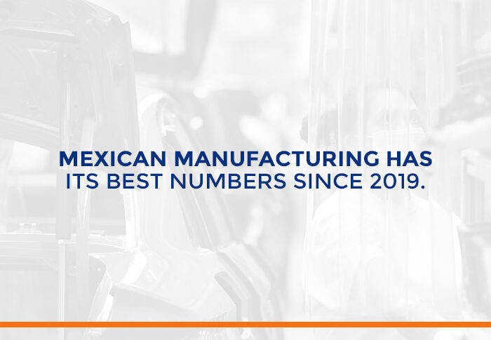 Mexican Manufacturing has its best numbers since 2019